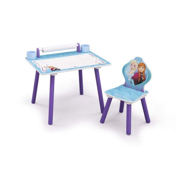 Disney Frozen Art Desk With Dry Erase Tabletop By Delta Children   Free  Shipping Today   Overstock.com   21517026