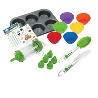 Cooking with Curious Chef 16-piece Silicone Cupcake and Decorating Bundle