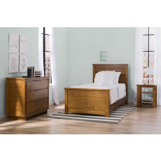 Delta Children Meadowbrook 3-Piece Twin Room-In-A-Box, Weathered Chestnut