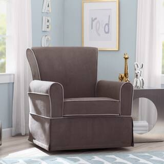 swivel rocking chairs for living room. Delta Children Benbridge Nursery Glider Swivel Rocker Chair  Graphite with Dove Grey Welt Living Room Ottomans Gliders Rockers For Less Overstock com