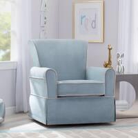 Delta Children Benbridge Nursery Glider Swivel Rocker Chair, Frozen Blue with Cream Welt