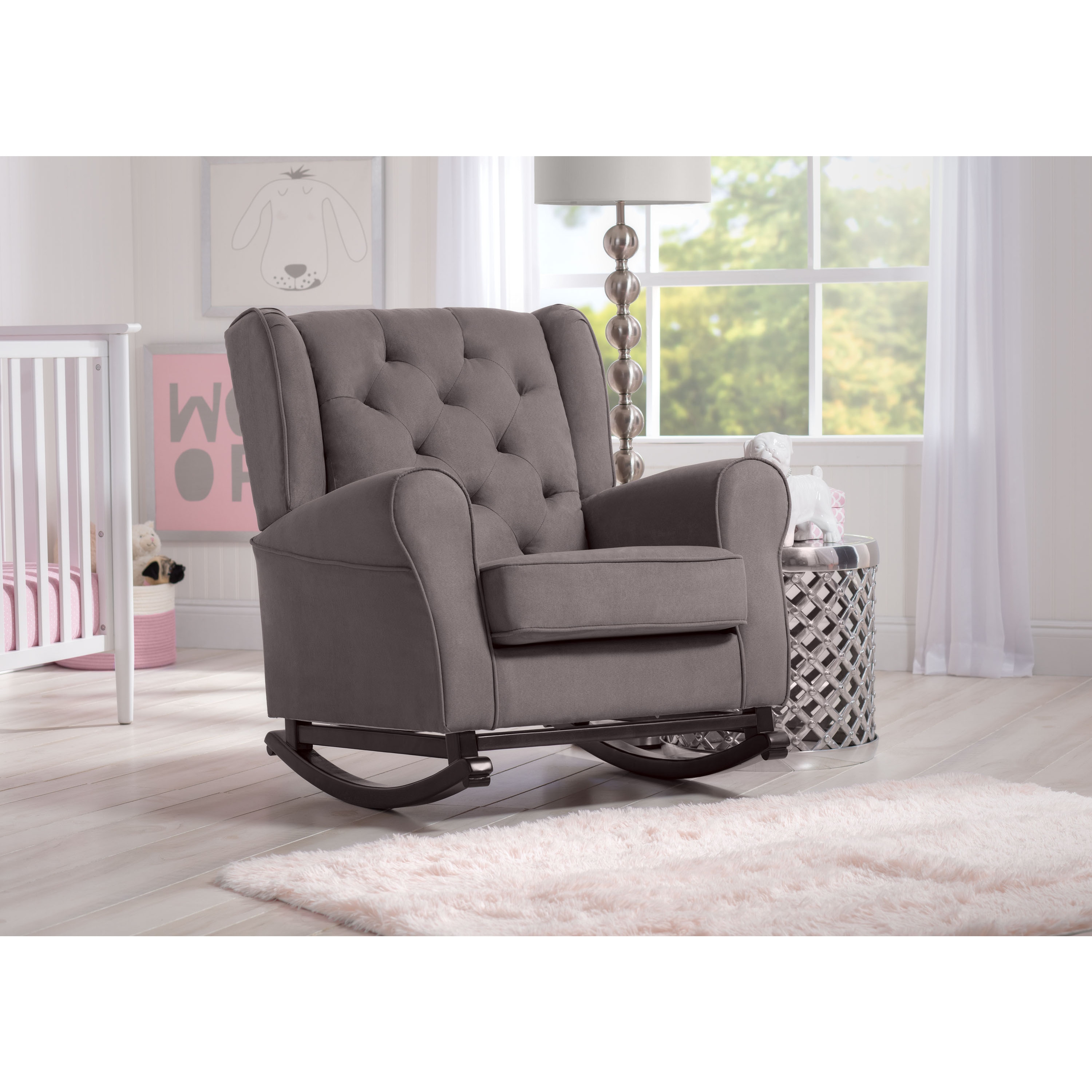 Delta Children Emma Nursery Rocking Chair Graphite