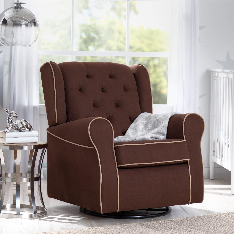 Delta Children Emerson Nursery Glider Swivel Rocker Chair...