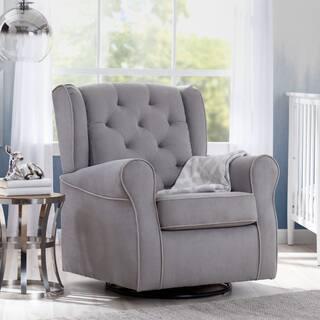 Delta Children Emerson Nursery Glider Swivel Rocker Chair Dove Grey With Soft Welt