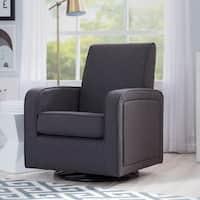 Delta Children Charlotte Nursery Glider Swivel Rocker Chair, Charcoal