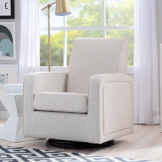 Delta Children Charlotte Nursery Glider Swivel Rocker Chair, Sand
