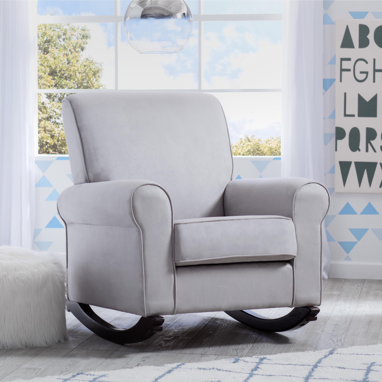 Awe Inspiring Delta Children Rowen Nursery Rocking Chair Dove Grey Ibusinesslaw Wood Chair Design Ideas Ibusinesslaworg