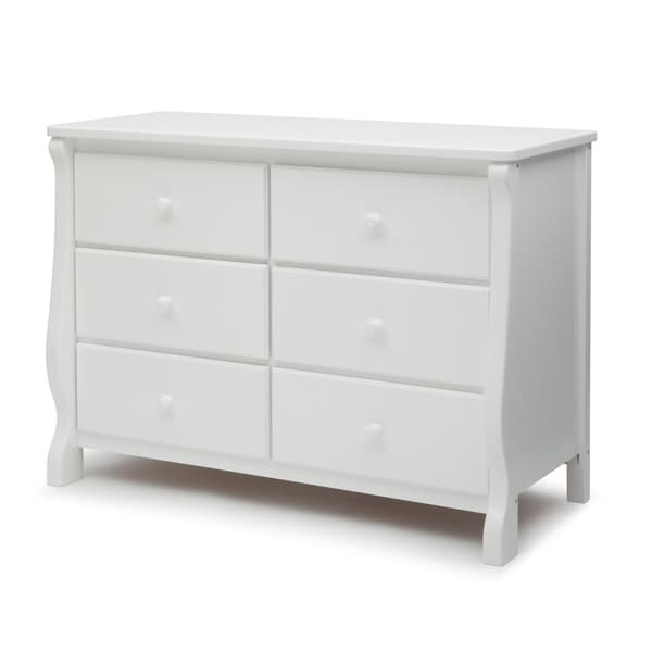delta children universal 6 drawer dresser white free shipping today