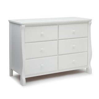 Delta Children Universal White 6-drawer Dresser
