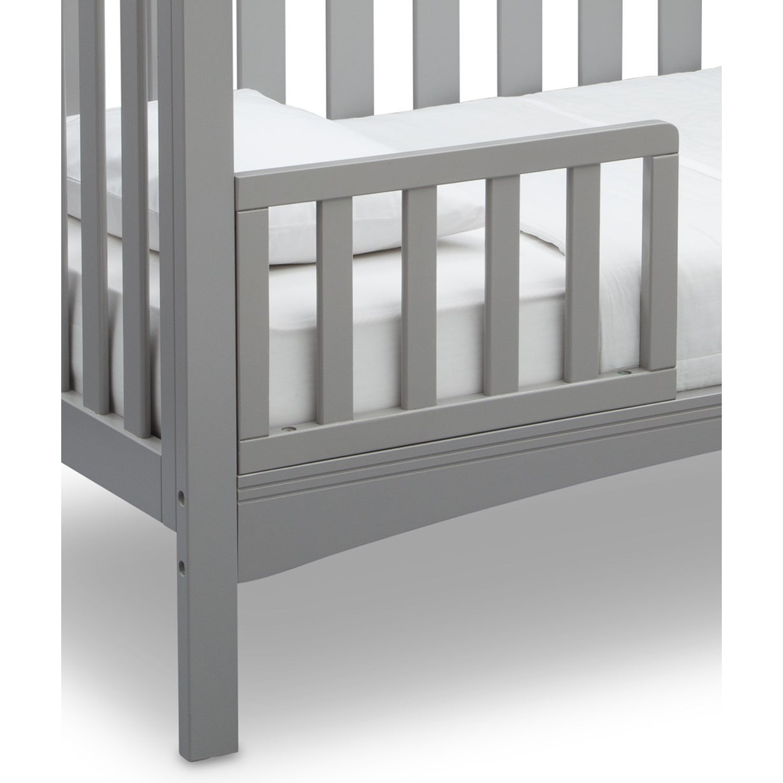 Delta Children Toddler Guardrail #0080 Toddler Guardrail Grey