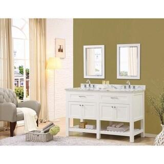 Direct Vanity Sink Preswick Spa 60-inch White Vanity