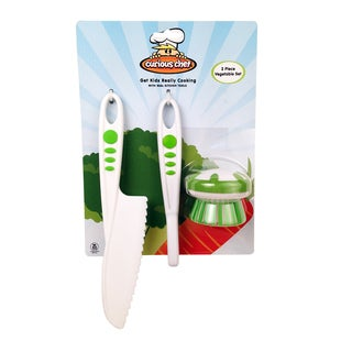 Curious Chef White Plastic 3-piece Vegetable Set