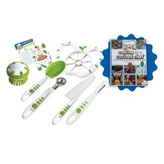 Cooking with Curious Chef Cookbook with 6-piece Fruit and Veggie Prep Kit Bundle