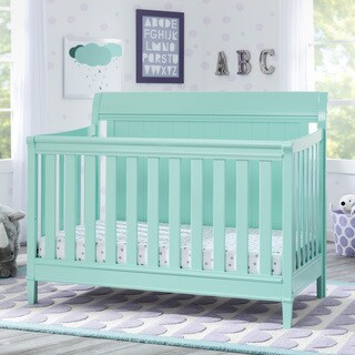 Delta Children New Haven 4-in-1 Convertible Crib, Aqua