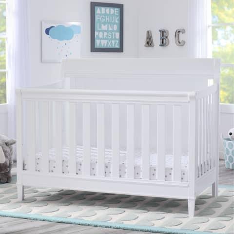 Delta Children New Haven 4-in-1 Convertible Crib, Bianca