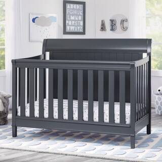 Delta Children New Haven 4-in-1 Convertible Crib, Charcoal Grey