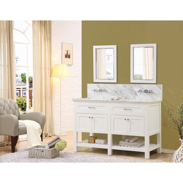 Direct Vanity Sink Preswick Spa Premium 60-inch White Vanity