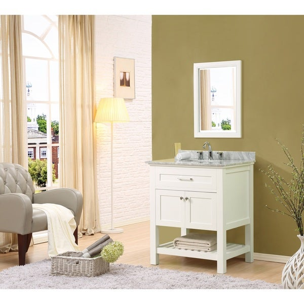 Direct Vanity Sink Preswick Spa 32-inch White Vanity