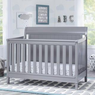 Delta Children New Haven 4-in-1 Convertible Crib, Grey