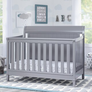 Delta Children New Haven 4-in-1 Convertible Crib, Grey
