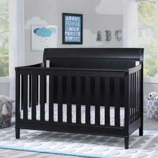 Delta Children New Haven 4-in-1 Convertible Crib, Ebony