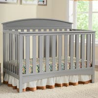 Delta Children Abby 4-in-1 Convertible Crib, Grey