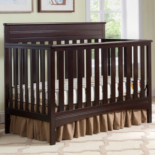 Delta Children Fabio 4-in-1 Convertible Crib, Dark Chocolate