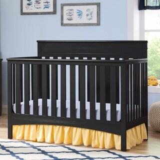 Delta Children Fabio 4-in-1 Convertible Crib, Black