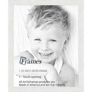 ArtToFrames Satin White Frame Picture Frame Various Sizes