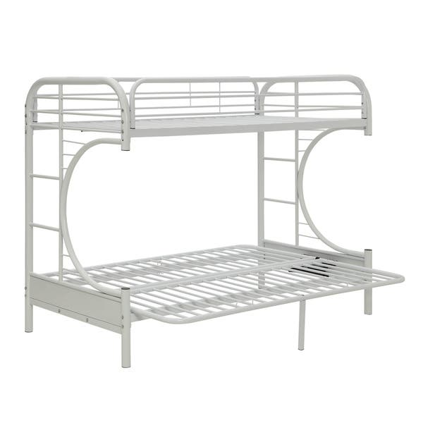 Acme Furniture Eclipse White Metal Twin Xl Over Queen