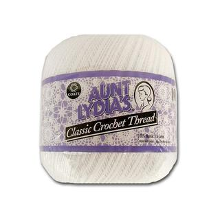 C&C Aunt Lydia's Special Value Crochet 1000yd Wht