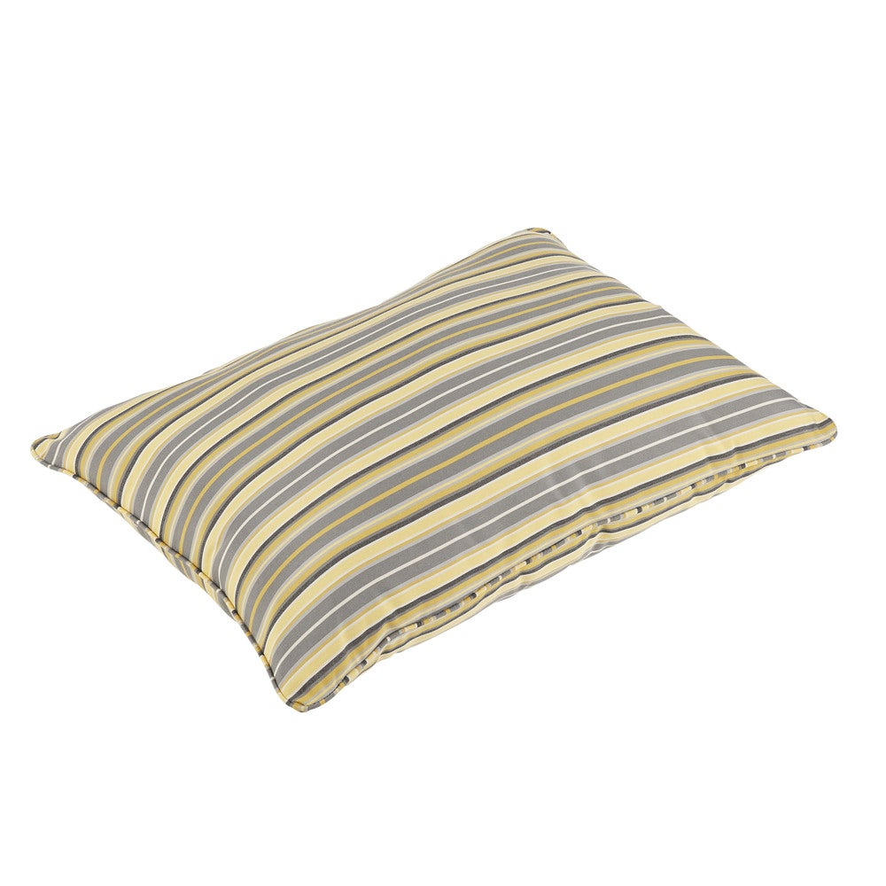 Janey Sunbrella Foster Metallic Indoor Outdoor 26 X 35 Inch Corded Floor Pillow Overstock 15020284