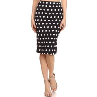 Women's Navy Polka Dot Pencil Skirt