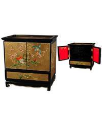 Handmade Empress Lacquered Gold Leaf Jewel Box (China)