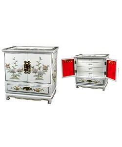 Handmade Empress Lacquered White Jewel Box (China)