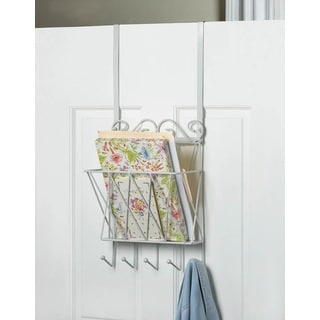 Over-the-Door White Metal Organizer
