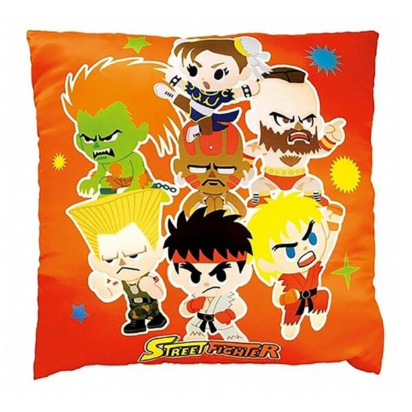 Capcom Orange Novelty Street Fighter Square Pillow