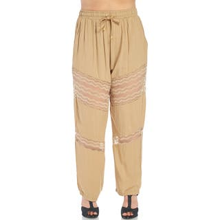 Xehar Women's Plus Size Stylish Elastic Relaxed Lace Fit Pants|https://ak1.ostkcdn.com/images/products/15026988/P21523216.jpg?impolicy=medium