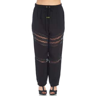 Xehar Women's Plus Size Stylish Elastic Relaxed Lace Fit Pants|https://ak1.ostkcdn.com/images/products/15027011/P21523215.jpg?impolicy=medium