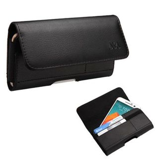Insten Small Black Horizontal PU Leather Pouch with Card Slot