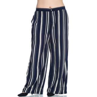 Xehar Women's Plus Size Casual Stripe Wide Leg Palazzo Pants https://ak1.ostkcdn.com/images/products/15027191/P21523463.jpg?impolicy=medium