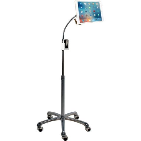 "CTA Digital Heavy-Duty Gooseneck Floor Stand for 7-13"" inch Tablets"