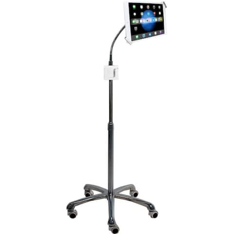 "CTA Digital Heavy-Duty Security Gooseneck Stand 7-13"" Inch Tablets 360 Rotate"