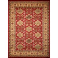 Rug Squared Ramsey Red Area Rug - 5'3 x 7'4