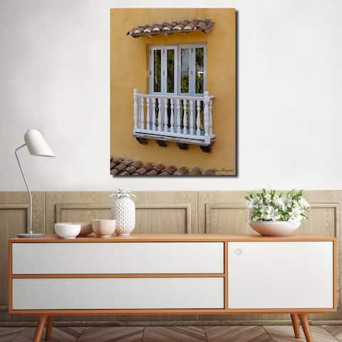 Ready2HangArt Indoor/Outdoor Wall Décor 'Provincial XII' in ArtPlexi by Olga Burgos - Orange