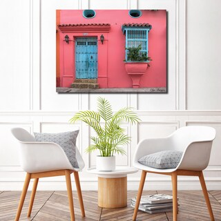 Ready2HangArt Indoor/Outdoor Wall Décor 'Provincial VIII' in ArtPlexi by Olga Burgos - Pink