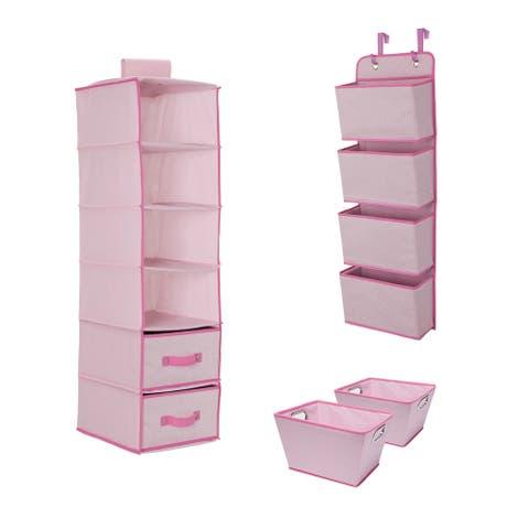 Delta Children Complete Nursery Organization ValuePack (3-Piece Set), Barely Pink