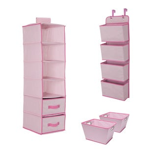 Delta Children Complete Nursery Organization ValuePack (3-Piece Set), Barely Pink