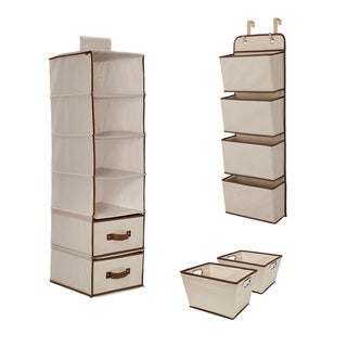 Delta Children Complete Nursery Organization ValuePack (3-Piece Set), Beige