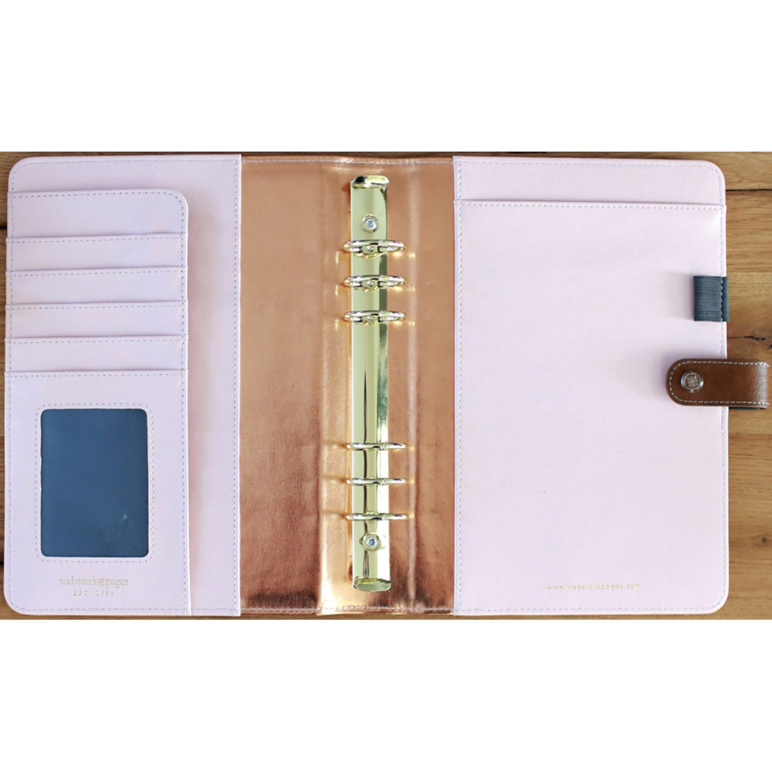 Webster Color Crush A5 Faux Leather 6-Ring Planner Binder...